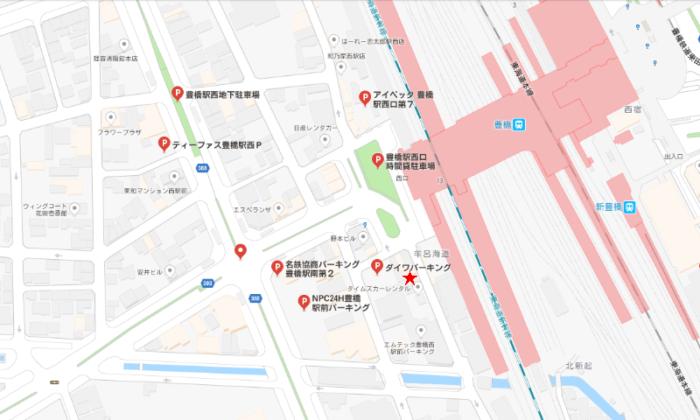 西駅近隣駐車場